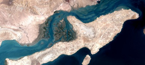 Qeshm Island in the Strait of Hormuz, Iran. This image is a combination of two images acquired by the Enhanced Thematic Mapper on NASA's Landsat 7 satellite - Oil Prices